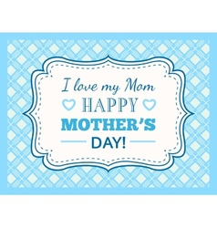 Happy Mothers day Typography letter font type vector image