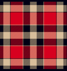 plaid in vintage colors tartan seamless pattern vector image