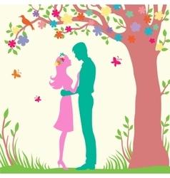 romantic word summer vector image