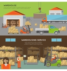 Warehouse transportation banners vector image