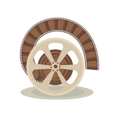 bobbin with film vector image vector image