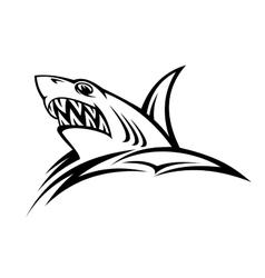 Danger shark tattoo vector