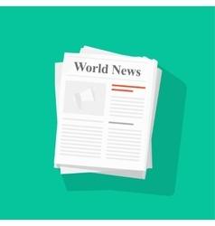 Newspaper stack vector image