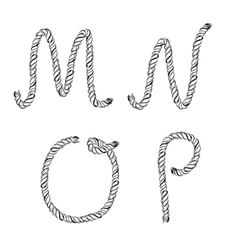 Ropes lettering vector image vector image