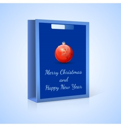 Shopping bag Christmas vector image vector image