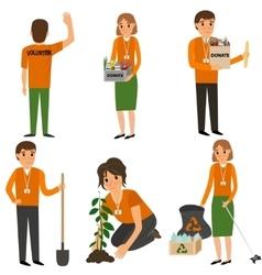 Volunteer People in work vector image vector image