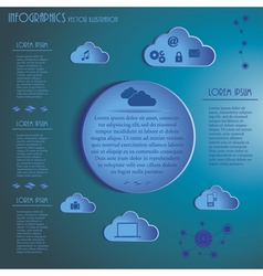 Weather Clouds Infographics vector image vector image