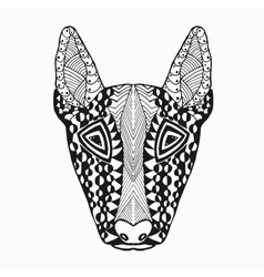 Zentangle stylized bullterier Sketch for tattoo vector image vector image