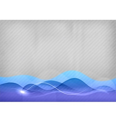 background blue wave vector image vector image