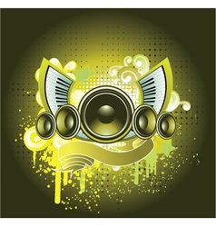 concert poster with speaker vector image vector image
