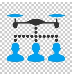 Drone Clients Connection Eps Icon vector image