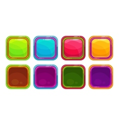 Fancy colorful bright buttons vector image vector image