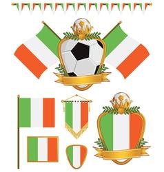 ireland flags vector image vector image