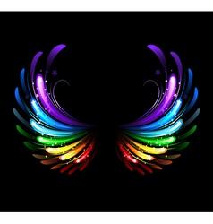 Rainbow wings vector