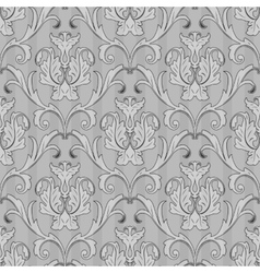 seamless black white wallpaper pattern vector image vector image