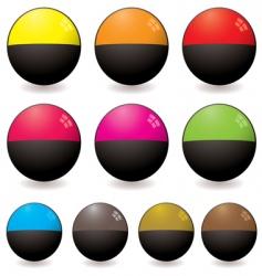 semi circular web icon vector image vector image