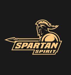 spartan spirit symbol logo vector image