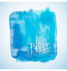 Blue watercolor square design element vector