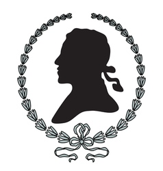 Laurel wreath with man silhouette vector image vector image
