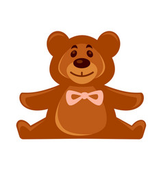 little toy brown bear vector image