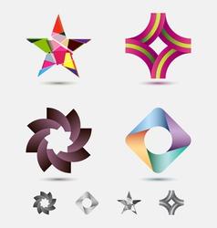 Modern icon or logo set vector