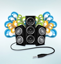 music speakers vector image vector image