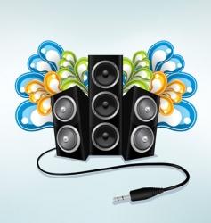 music speakers vector image