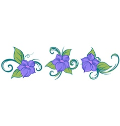 A floral design vector image