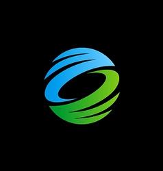 Abstract circle ecology technology logo vector