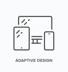 adaptive design line icon outline vector image