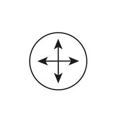 arrow compass icon vector image
