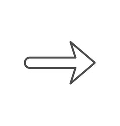 arrow line icon and pointer sign vector image