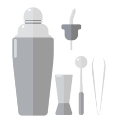 Barmen drinks shaker vector image
