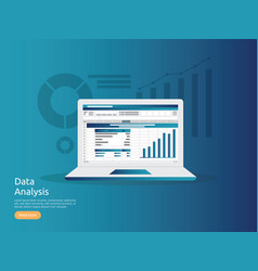 Big data analysis on screen seo analytic vector