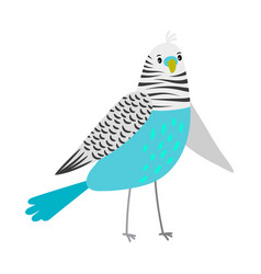 Blue cartoon parrot vector