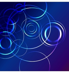 blue star flash abstract background vector image