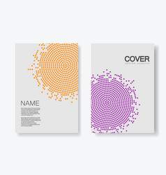 Brochure template with halftone design annual vector