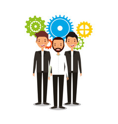 businesspeople teamwork avatars characters icon vector image