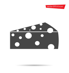 cheese icon isolated on background modern flat pi vector image