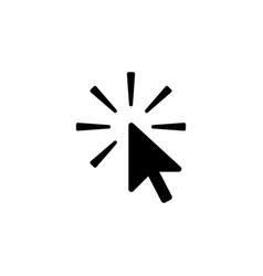 click icon black on white vector image