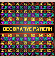 Colorful decorative geometric pattern background vector