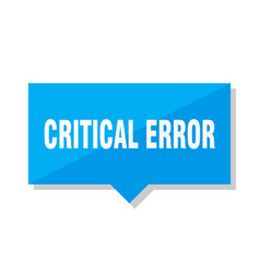 Critical error price tag vector