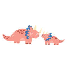 cute mother and badinosaurs print funny vector image