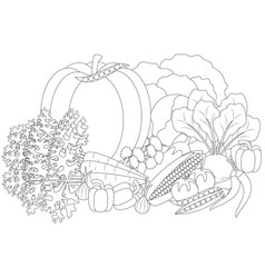 doodle vegetables anti vector image