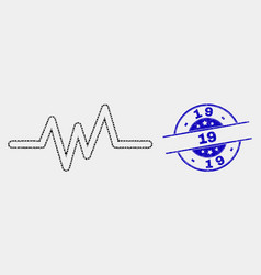 dot pulse signal icon and distress 19 vector image