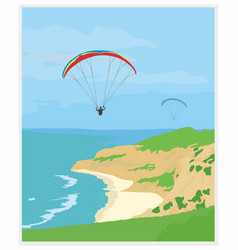Famous place in san diego california vector