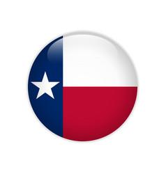 Flag texas button vector