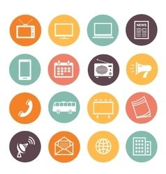 Flat design advertising elements icons web vector image