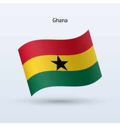 Ghana flag waving form vector image