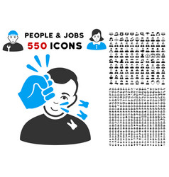 Head strike icon with bonus vector